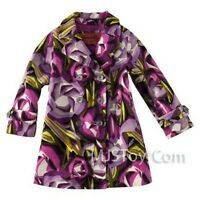 Missoni Target Toddler Girl Printed Corduroy Trench Coat Purple 2t 3t 4t 5t