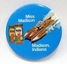 variation 1974 MISS MADISON NESTEA 2 Jars pinback button Hydroplane Boat racing