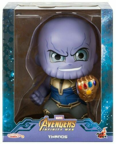 Thanos Cosbaby Bobble Head Figure by Hot Toys Marvel Avengers Infinity Wars New
