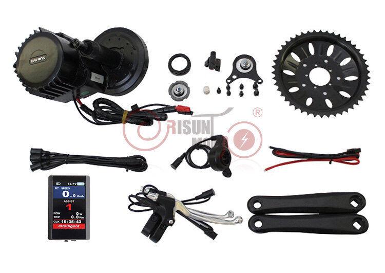 Sale 48V 1000W Bafang Mid motor  Ebike conversion Kit color screen  68 100 120mm  the best online store offer