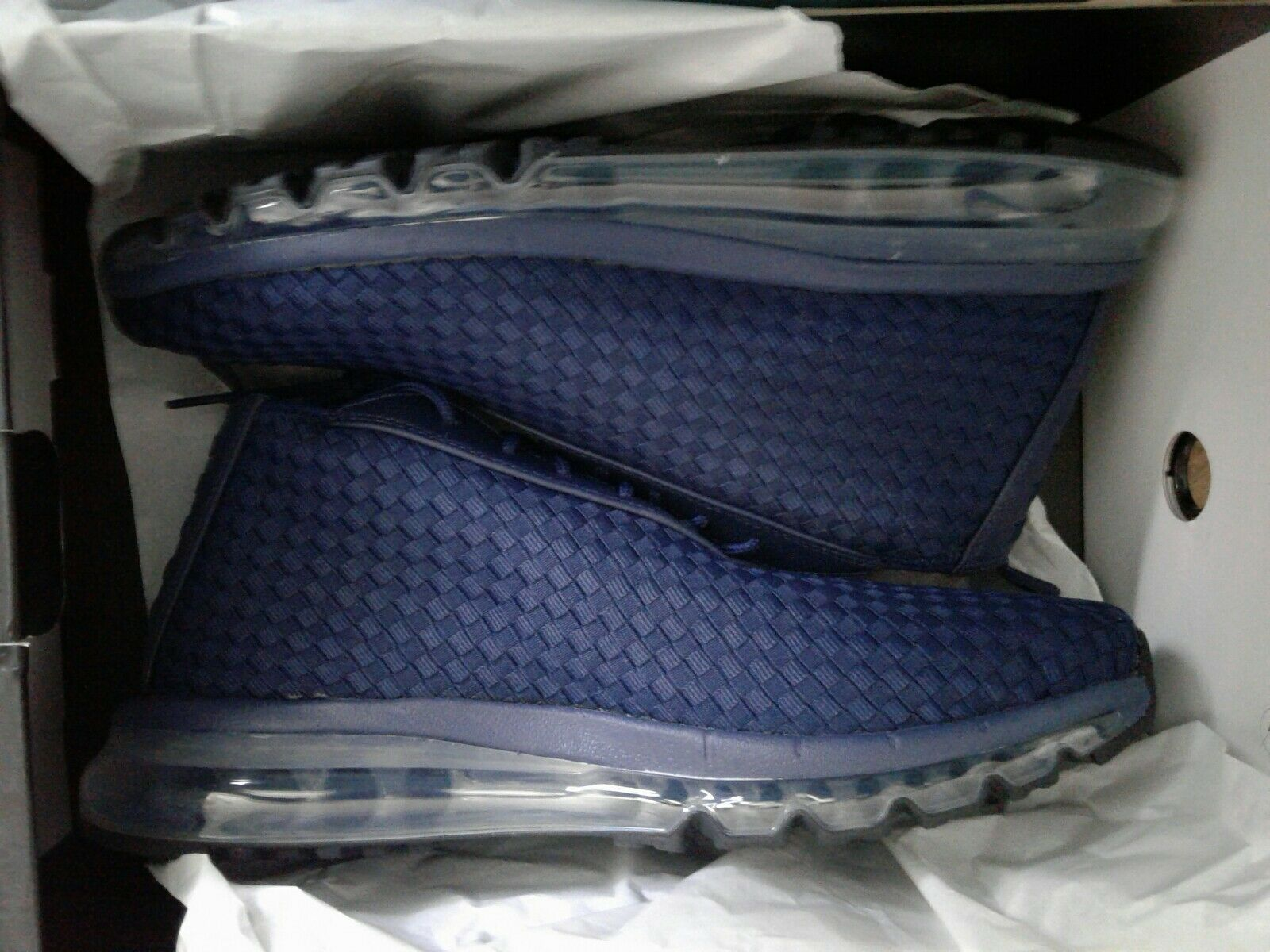 Air Max Woven Boot DS 921854-400 Midnight Navy/Midnight Navy Mens Size 10