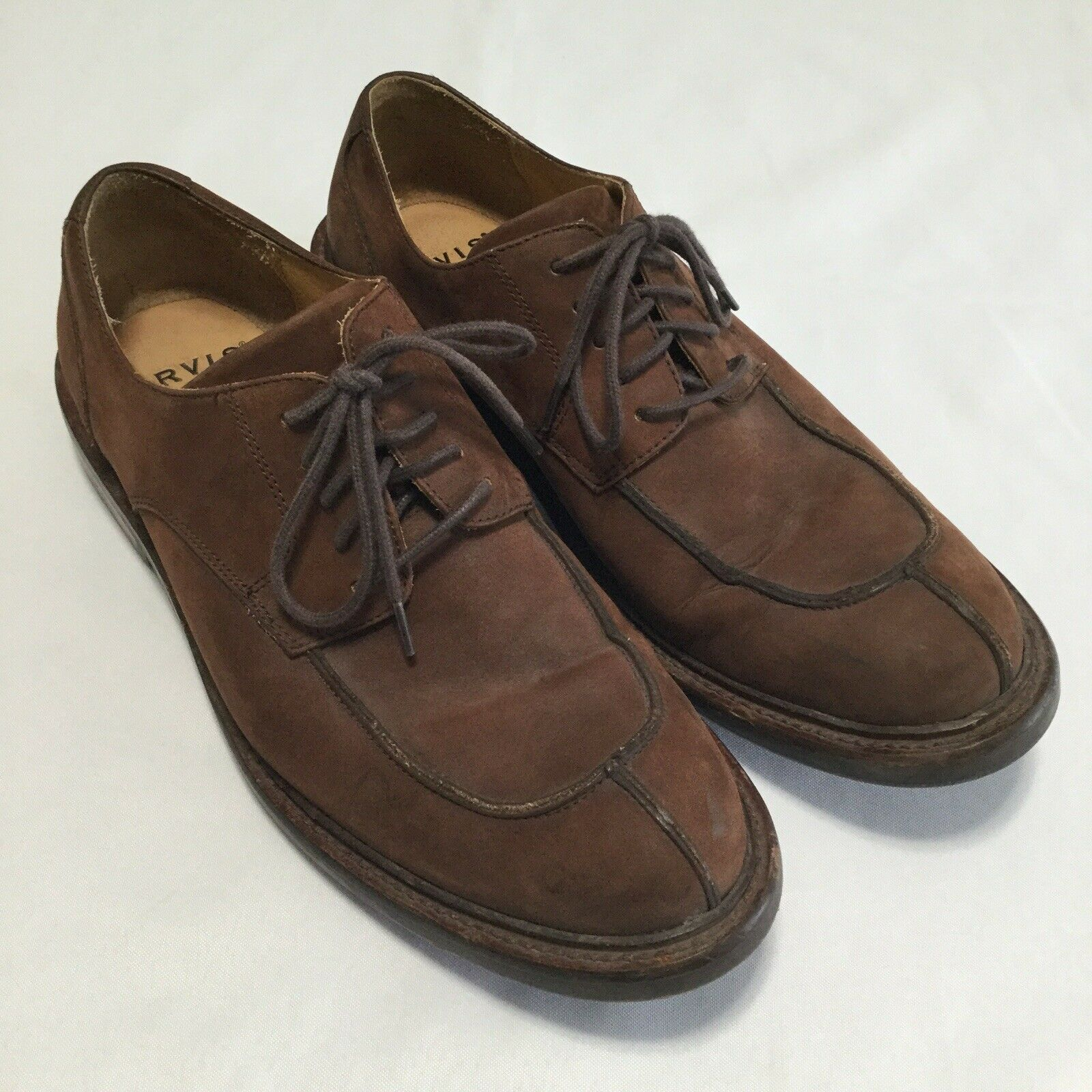Orvis Men's Lace Up Brown Leather Oxfords shoes Dress Brown Sz 11M OV8055