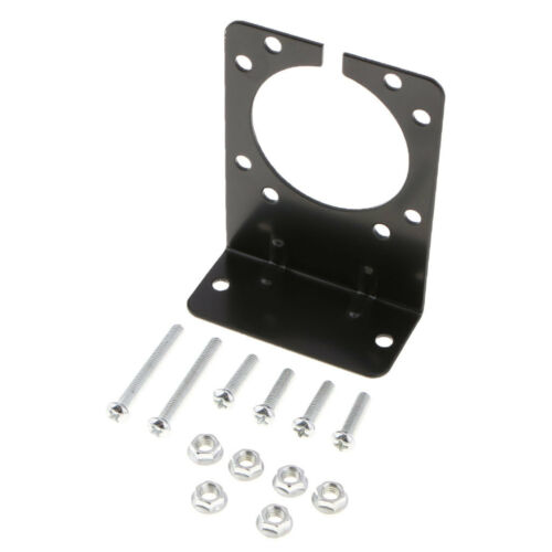 Metal Powder Coated Mount Bracket fit for 7 way Truck Trailer Plug Connector