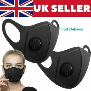 Face Mask Protective Covering Mouth Masks Washable Reusable Black Uk Breathable Ebay