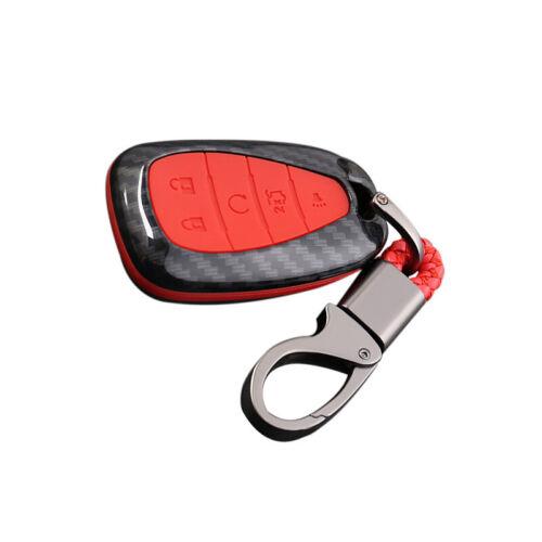 Carbon fiber Car key holder Trim For Chevrolet Camaro 2019 2018 2017 2016 Red