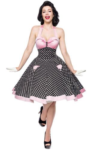 50er Jahre Pin Up Vintage Rockabilly Kleid Tanzkleid exklusive Petticoat Rock