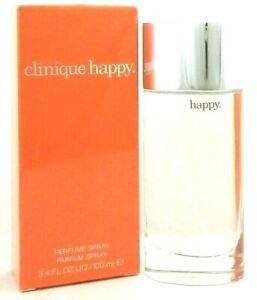 Clinique Happy Perfume Spray 3.4 oz./ 100 ml. for Women New in Sealed Box