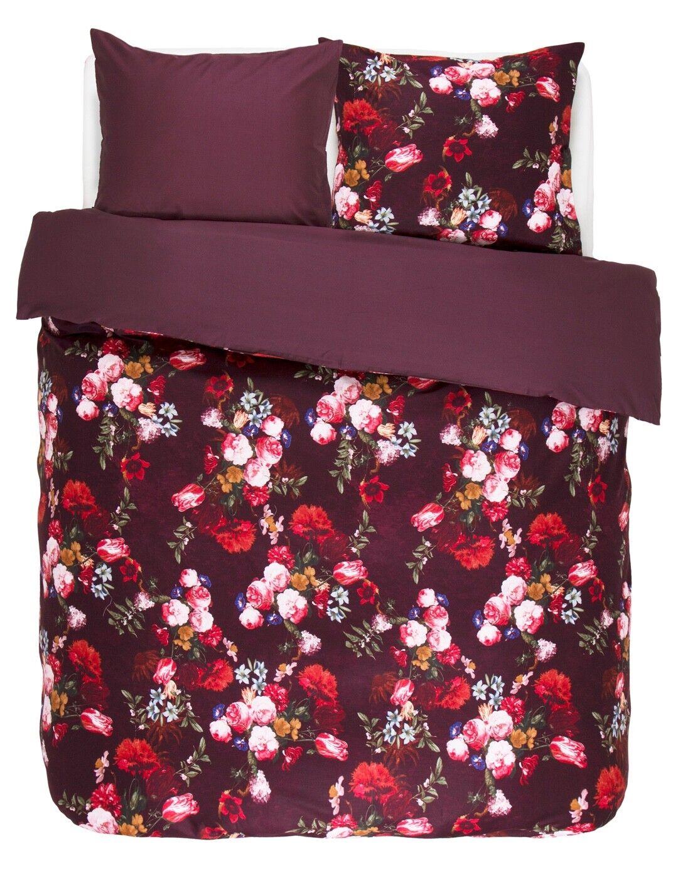 Essenza Bettwäsche Miros rot rot Blaumen Blüten Rosan Pflanzen Satin     In hohem Grade geschätzt und weit vertrautes herein und heraus
