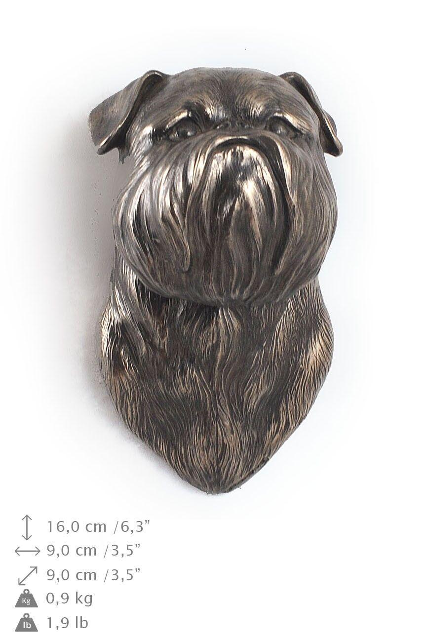 Griffone di Bruxelles - statua del cane per appendere al muro, Art Dog IT