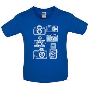 Cámaras Vintage-Kids / para niños camiseta-Fotografía - 8 Colores  </span>