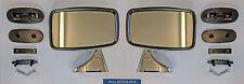 Classic Mini Tex Style Chrome Wing Mirror Set (GAM215R/GAM216R)