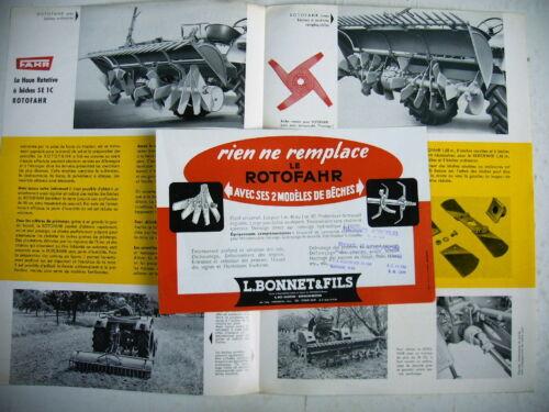 publicité prospectus agriculture ROTOFAHR SE 1C