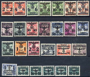 GEN-GOVERNMENT-1940-Overprint-definitive-set-MNH