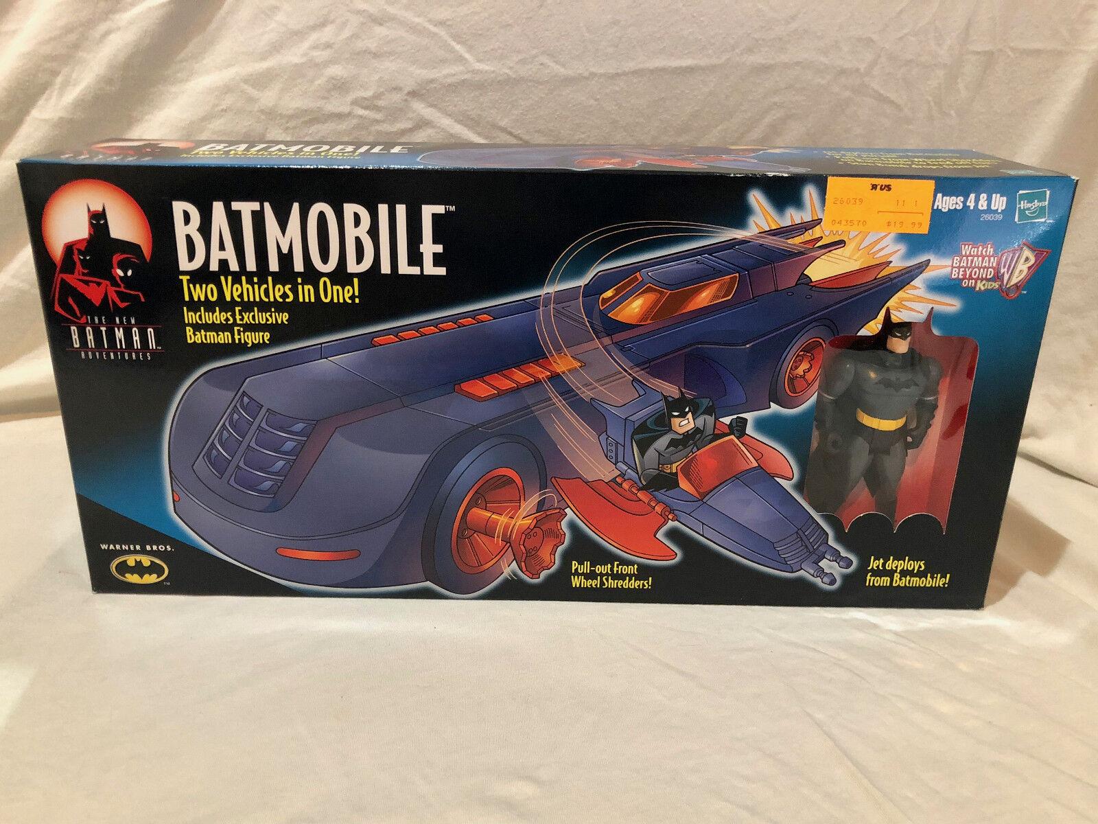 BATMAN ANIMATED SERIES - BATMOBILE VEHICLE & FIGURE - NEW IN BOX - RARE - 2000