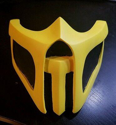 New Handmade Mortal Kombat Cosplay Mask Scorpion Theme Us Seller