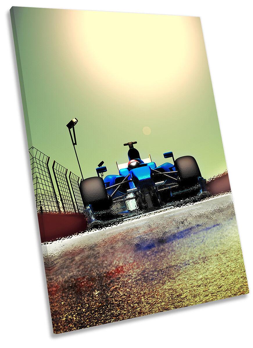 Race Car Fast Formula One Bild CANVAS Wand Kunst Portrait Drucken
