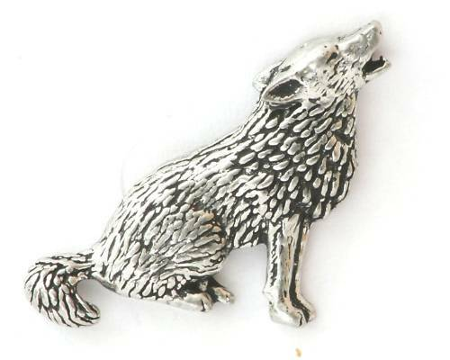 Wolf Prarie Dog Pewter Pin Badge ideal  Gift NEW