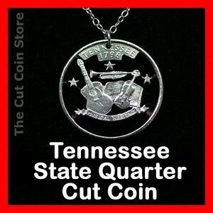 Tennessee-25-TN-Quarter-Cut-Coin-Necklace-Music-Fiddle-Guitar-Music-Nashville