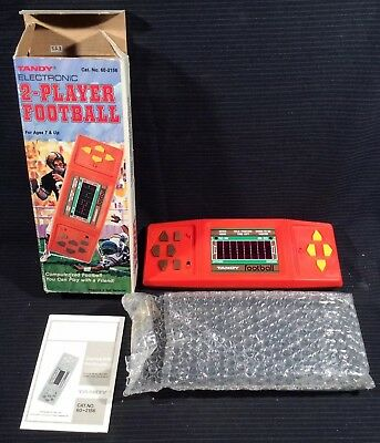 1970-1989 Box/instructions Electronic, Battery & Wind-up Tandy Electronic 2-player Hand Held Football W/ Orig