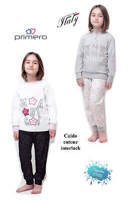 Generico Pigiama Interlock Personaggi e Modelli Vari in Caldo Cotone per Bambino e Bambina