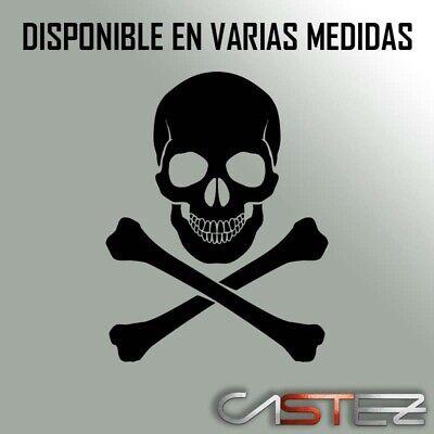sticker PEGATINA calavera skull craneo muerto died casco vinilo decal vinyl