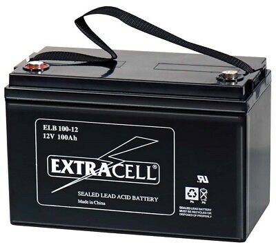 Batteria 12v 100a Piombo Gel Ermetica Allarmi Ups Elettronica Camper Elettrica