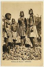 Angola YOUNG NUDE WOMEN Humbe JUNGE NACKTE FRAUEN * Vintage 1940s Ethnic PC