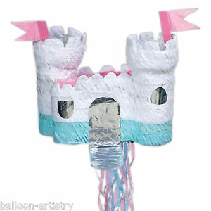 Princess-White-Fairytale-Castle-PULL-Pinata-Party-Game