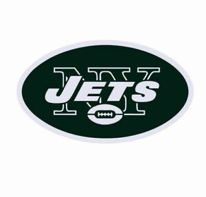 """New York Jets NFL Vinyl Decal Sticker Reflective OFFICIAL NFL 3"""" Decal"""