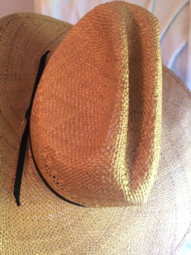 31253e04a9614 3 of 12 John B Stetson Cowboy Straw Vented Hat Rincon Small Western 10x Pin  XS Natural