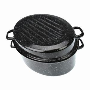 Cocotte-Ovale-en-Acier-emaillee-Avec-Couvercle-38cm-Noir7-5L