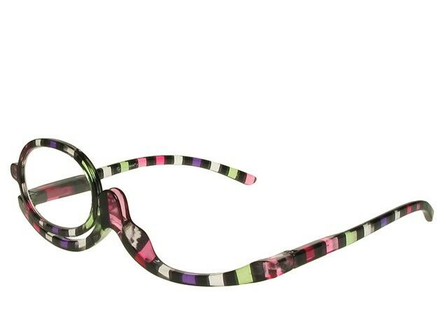 New GOODLOOKERS Magnifying MAKE-UP GLASSES with Switchable Lens & Case +3.00