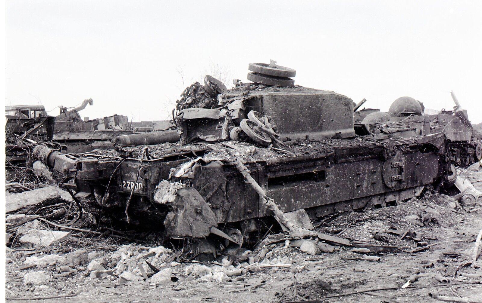 BRITISH ARMY CHURCHILL TANK GRAVEYARD     Photo Print