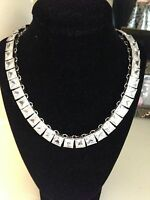 ABS Allen Schwartz Silver-Tone Cubic Zirconia Necklace