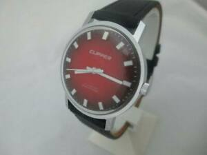 NOS NEW VINTAGE SHOCK PROOF MECHANICAL HAND WINDING MEN'S CLIPPER WATCH 1960'S