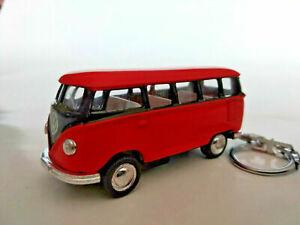 Porte-cle-Volkswagen-bus-combi-orange-fonce-et-noir-neuf-idee-cadeau