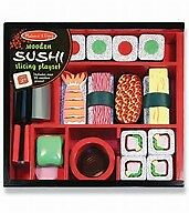 Wooden Sushi Slicing Playset Melissa And Doug 24 Pieces Pretend Play Set Toys