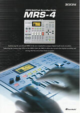 BROCHURE for Zoom MRS-4 MultiTrak Recording Studio