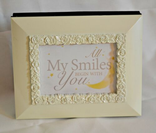 "All My Smiles Begin With You Photo Album /& Frame NIB Cottage Gardens 3.5/""x5/"""