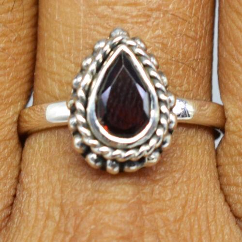 925 Sterling Silver garnet Gemstone Rings Jewelry 3.31 gms Fine Jewelry