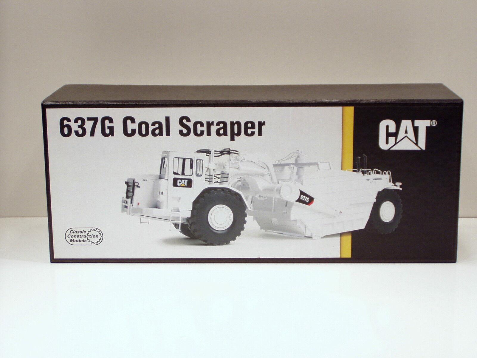 Caterpillar 637 G Charbon Grattoir avec Auger -  BLANC  - 1 48 - CCM-Laiton-Comme neuf IN BOX