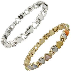 Image Is Loading Magnetic Bracelet Las Heart Design Arthritis Pain Relief