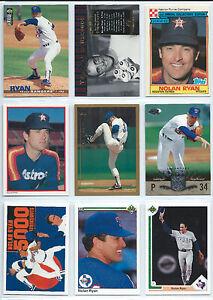 Details About Nolan Ryan Lot Of 9 Baseball Cards Houston Astros Texas Rangers Upper Deck