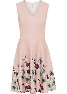 Kleid m Blumenprint Gr. 40/42 Rosa Damen Cocktailkleid ...