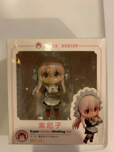 SUPER SONICO// NENDOROID 10 CM WORKING SET SUPERSONICO IN BOX 4/""