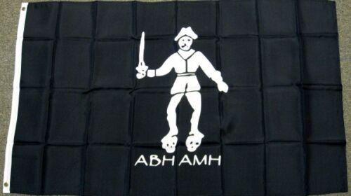 3X5 BLACK BART FLAG PIRATE ABH AMH BARTHOLOMEW ROBERTS BANNER NEW ROGER F094