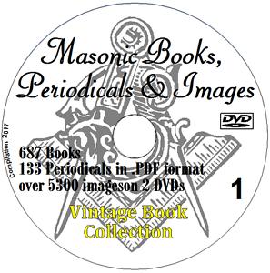 FREEMASONRY MASONIC collection 687 Books on 2 DVDs Masons Occult Freemason +