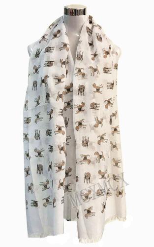 New Women Ladies Long Fashion DOG Print Pattern Shawl Scarf  Warp