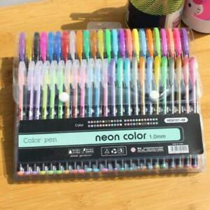 12-Colors-Gel-Pens-kit-Glitter-Metallic-Neon-Individual-Color-Adult-Kid-Coloring