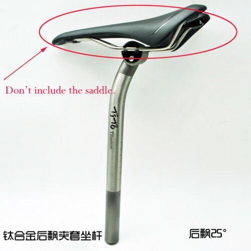 350mm Titanium Alloy Bicycle Bike Setback 10//25//17.5mm Seatpost Details about  /27.2//30.9//31.6